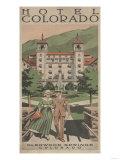 Glenwood Springs  Colorado - Hotel Colorado Travel Poster