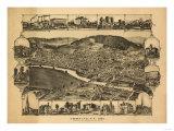 Corning  New York - Panoramic Map