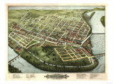 Holyoke  Massachusetts - Panoramic Map