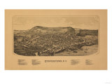 Cooperstown  New York - Panoramic Map