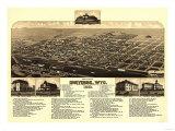 Cheyenne  Wyoming - Panoramic Map