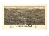 Clinton  New York - Panoramic Map