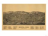 Bristol  Connecticut - Panoramic Map