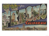 Fresno  California - Large Letter Scenes