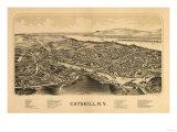 Catskill  New York - Panoramic Map