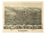 Cameron  West Virginia - Panoramic Map