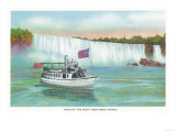 Niagara Falls  Canada - View of Maid of the Mist Boat