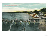 Rochester  New York - Sea Breeze Pier and Lake Scene