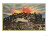 Riverside  California - Easter Sunrise Service on Mt Rubidoux