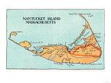 Nantucket  Massachusetts - Map of the Island
