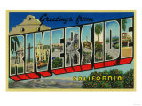Riverside  California - Large Letter Scenes