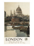 London  England - Great Western Railway St Paul's Travel Poster