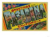Pasadena  California - Large Letter Scenes