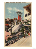 Riverside  California - View of the Mission Inn & Oriental Court