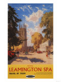 Leamington  England - Royal Spa  Street View British Railways Poster