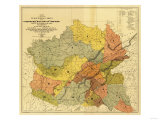 "Former Limits of Cherokee ""Nation of"" Indians No1 - Panoramic Map"