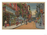 New York  NY - View of Chinatown Shops