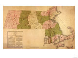 Massachusetts - Panoramic Map