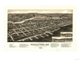 Oregon - Panoramic Map of Pendleton