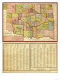 Oklahoma - Panoramic Map
