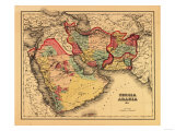 "Middle East ""Persia Arabia"" - Panoramic Map"