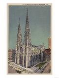 New York  NY - St Patricks Cathedral Surroundings