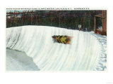 Lake Placid  New York - Riding the Whiteface Curve on the Olympic Bobsled Run