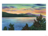 Lake George  New York - Lake Sunrise View of Buck Mountain
