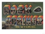 Rock Springs  Wyoming - Large Letter Scenes