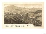 Ludlow  Vermont - Panoramic Map