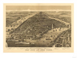 New York City  New York - Panoramic Map