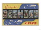 Oshkosh  Wisconsin - Large Letter Scenes