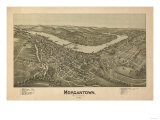 Morgantown  West Virginia - Panoramic Map
