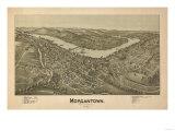 Morgantown  West Virginia - Panoramic Map