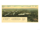 Oconomowoc Waukesha  Wisconsin - Panoramic Map