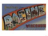 Racine  Wisconsin - Large Letter Scenes