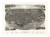 Larchmont  New York - Panoramic Map