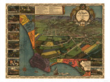 Los Angeles  California - Panoramic Map No 1