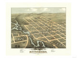 Reedsburg  Wisconsin - Panoramic Map
