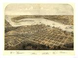 Port Huron  Michigan - Panoramic Map