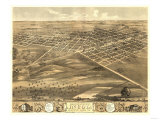 Lincoln  Illinois - Panoramic Map