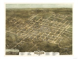 Raleigh  North Carolina - Panoramic Map