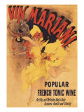 Paris  France - Vin Mariani Dancing Girl Pouring Wine Promotional Poster