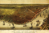 New Orleans  Louisiana - Panoramic Map