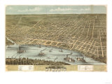 Memphis  Tennessee - Panoramic Map