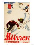 Murren, Switzerland - Inferno Races Promotional Poster Reproduction d'art par Lantern Press