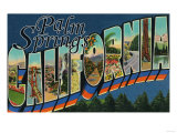 Palm Springs  California - Large Letter Scenes
