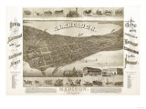 Madison  Wisconsin - Panoramic Map No 1