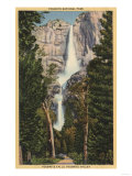 Yosemite National Park  CA - View of Yosemite Falls & Valley