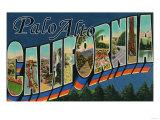Palo Alto  California - Large Letter Scenes